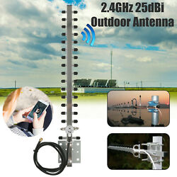 RP-SMA 2.4GHz 25dBi Directional Outdoor Wireless Yagi Antenna WiFi For Router US $13.97