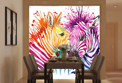 Huge 3D Colored Horse10 Wall Paper Wall Print Decal Wall Deco Indoor Murals Wall