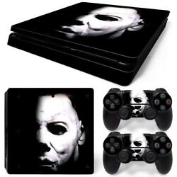 PS4 Slim Michael Myers Console & 2 Controllers Decal Vinyl Skin Wrap