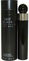 360 BLACK for Men by Perry Ellis Cologne 3.4 oz edt Spray NEW in BOX $22.22