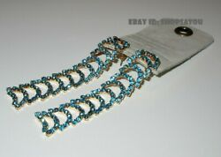 Anthropologie Ladder Railroad Rhinestone Bling Chandelier Pierced Posts Earrings $24.95