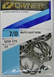 OWNER MUTU LIGHT WIRE CIRCLE HOOKS SALTWATER PRO PACKS ALL SIZES 5314 ALL SIZES $14.99