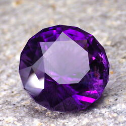 AMETHYST-BRAZIL 12.89Ct CLARITY SI2P1-DEEP PURPLE+BLUISH FLASHES-FACETED IN USA $188.00