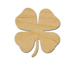 4 Leaf Clover Shape Wooden Shamrock Unfinished Wood Cutouts Variety of Sizes $8.25