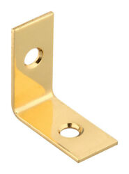 National Hardware  Inside  Corner Brace  1 x 12  Solid Brass