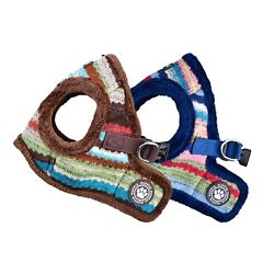 Puppia Dog Puppy Harness Soft Vest Crayon Collection Blue Brown S M L XL $28.95