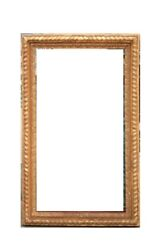 FRAME CURVE WOODEN PAINT AND GOLDEN PERIOD EIGHTEENTH CENTURY  FRAME ANTIQUE