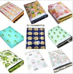 Designer Poly Mailers Plastic Envelopes Shipping Bags Custom #SmileMail® $8.95