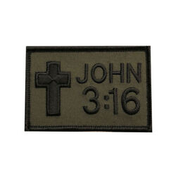 JOHN 3:16  CHRISTIAN JESUS  GOD EMBROIDERED iRON ON PATCH (MIL1) BY MILTACUSA