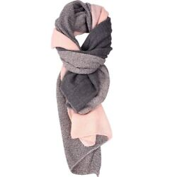 Winter Cashmere Scarves for Women Men Shawl Scarfs and Wraps Pitting Pink