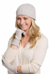 Fishers Finery Womens 100% Pure Cashmere Hat & Glove Set with Gift Bossx Ultra