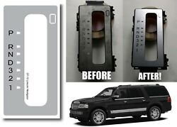 Replacement Floor Shifter Matte Silver Sticker For 2007 2014 Lincoln Navigator $19.99
