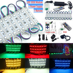 US 10~100FT 5050 SMD 3 LED Module Strip Light Boat Deck Garden Caravan Car Tent