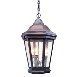 Troy Lighting Verona Large 3-Light Outdoor Hanging Lantern