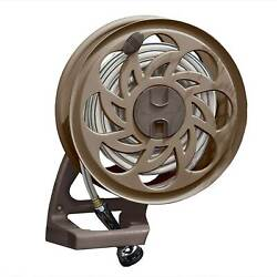 Suncast 125 Foot Capacity Wall Mounted Side Tracker Garden Hose Reel with Guide $44.84