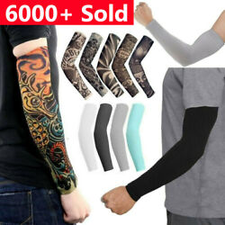 6 pcs Tattoo Cooling Arm Sleeves Cover Basketball Golf Sport UV Sun Protection