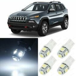 14 x Xenon White Interior LED Lights Package For 2014- 2018 Jeep Cherokee  +TOOL $14.99