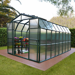 Rion Greenhouses Grand Gardener 2 Twin Wall 8 Ft. W x 16 Ft. D Greenhouse