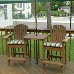 Birds Choice Perfect Choice Plastic Adirondack Chair with Table