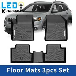All Weather Floor Mats Floor Liners for Jeep Cherokee 2015-2019 1st and 2nd Row