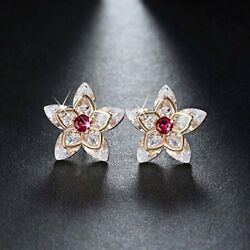 Flower Design Marquise Cut Stud Earrings Ginger Lyne Collection