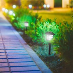 Set of 6 Solar LED Lantern Shaped Pathway Lights Garden Patio Outdoor Lamps $19.99