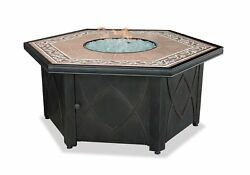 Endless Summer GAD1380SP LP Gas Outdoor Firebowl with Decorative Tile Mantel