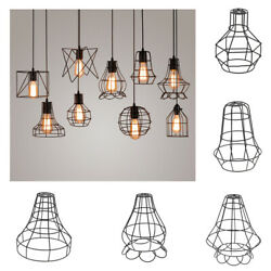 Vintage Metal Guard Pendant Light Bulb Cage Ceiling Hanging Lampshade 5style $12.56