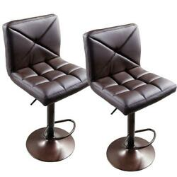New 2 PACK Adjustable Modern PU Leather Swivel Hydraulic Chair Bar Stools Brown $75.99