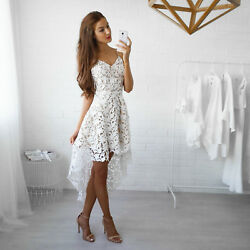 Fashion Womens Summer Sleeveless Evening Party Cocktail Short Mini Lace Dress $13.99