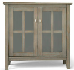 Simpli Home Warm Shaker 2 Door Accent Cabinet