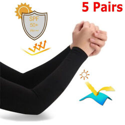 4Pairs Cooling Arm Sleeves Cover UV Sun Protection For Men Women Unisex