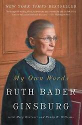 My Own Words by Ruth Bader Ginsburg English Paperback Book Free Shipping $18.20