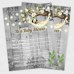 Girl Baby Shower Invitations Rustic Decorations Invites Set Of 20 $15.80