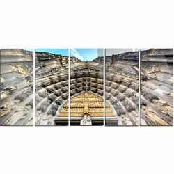 Facade of the Dom Church in City' 5 Piece Photographic Print on Metal Set