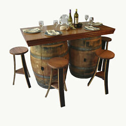 Napa East Collection Wine Barrel 5 Piece Dining Set
