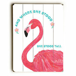 Harriet Bee 'She Stood Tall' Print on Wood