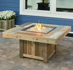 The Outdoor GreatRoom Company Vintage Gas Fire Pit Table