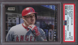 2018 Stadium Club 48 Mike Trout Photographers Proof PSA 10 Gem Only 7 Made Pop 1