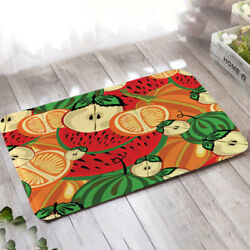 Chic Fruit Printed Floor Mat Carpet Fresh Suede Rugs Home Outdoor Kitchen Decor