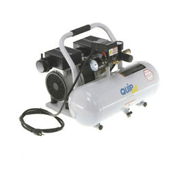 Quipall 1 HP 2 Gal. Oil Free Hotdog Air Compressor 2 1 SIL AL New $115.00