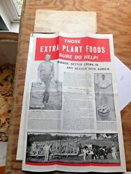 Large 1935 Fold Out Ad. Agrico Fertilizer. Am. Ag. Chemical Co. Baltimore MD $6.95