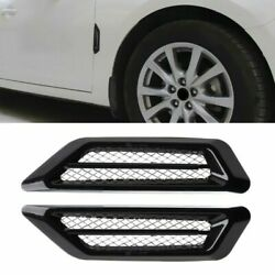 Universal ABS Car Side Vents Fender Cover Accessorie Decal Sticker Silver Chrome