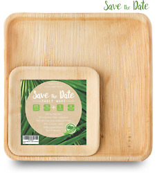 10'' Square Palm Leaf Plates 30 Pack (10