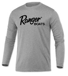 Ranger Boats Long Sleeve Microfiber UPF Bass Fishing Shirt Heather Gray