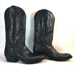 NOCONA black leather exotic lizard western cowboy boots 8.5 FREE SHIPPING!
