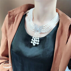 Gorgeous AAA 6-7mm natural south sea white round pearl necklace (w)