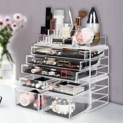 Acrylic Jewelry Makeup Tower Organizer Cosmetic Storage Holder Box Drawer Clear