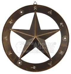 15quot; Star Wall Decor Cattle Markings Brushed Copper Rustic Western Ranch Style $19.95