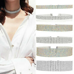 1PCS Elegant Multilayer Women Twinkling Full Crystal Rhinestone Choker Necklace
